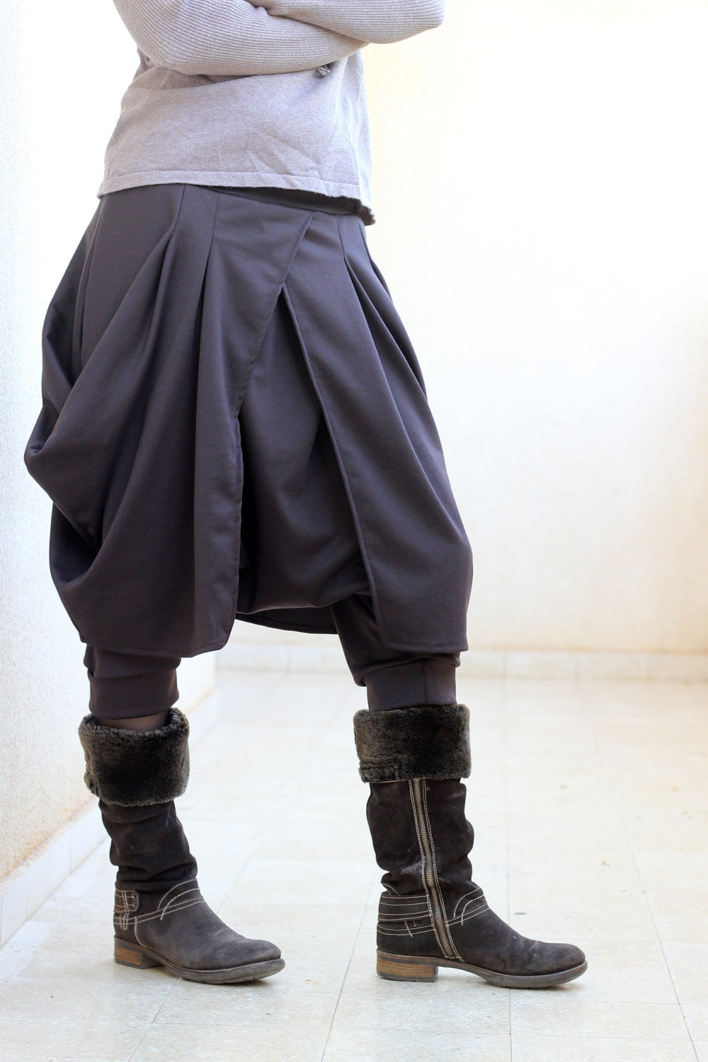 2-in-1 Stylish BOHO Pants With Skirt