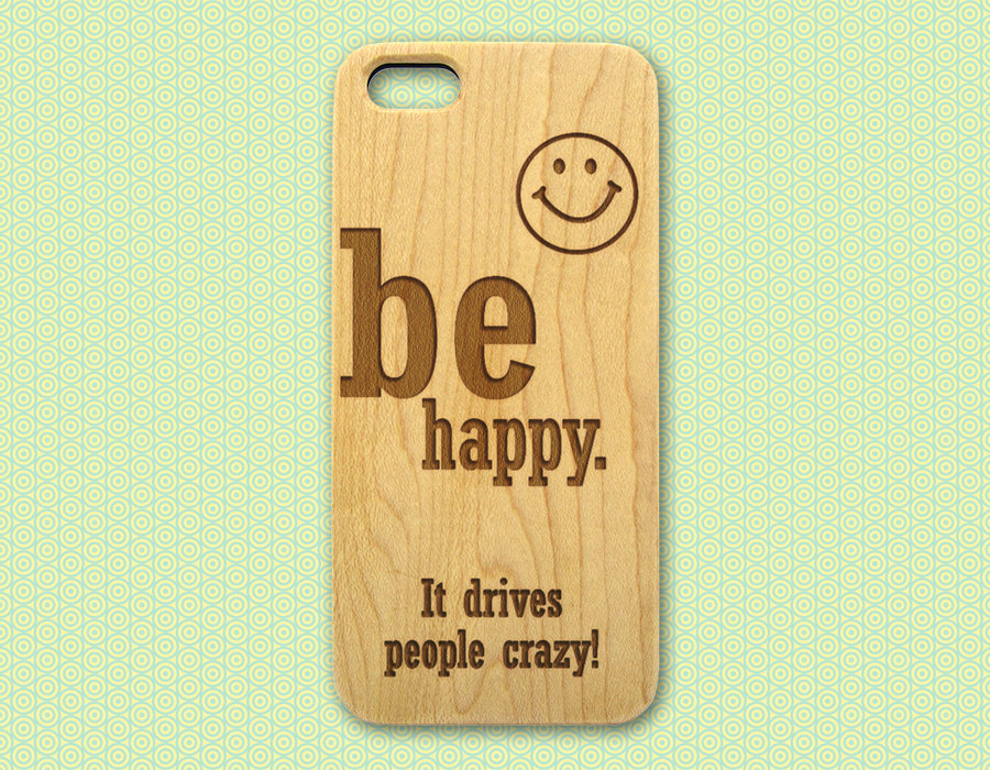 Quote Wood iPhone Case