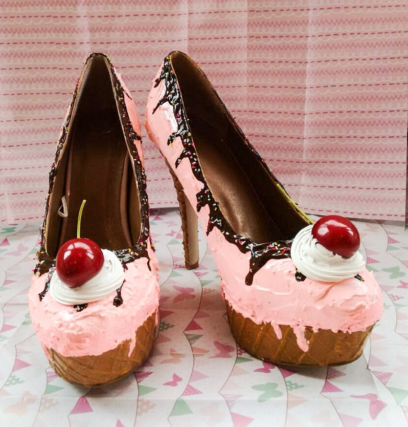 Pink, Pin - Up Ice Cream Shoes