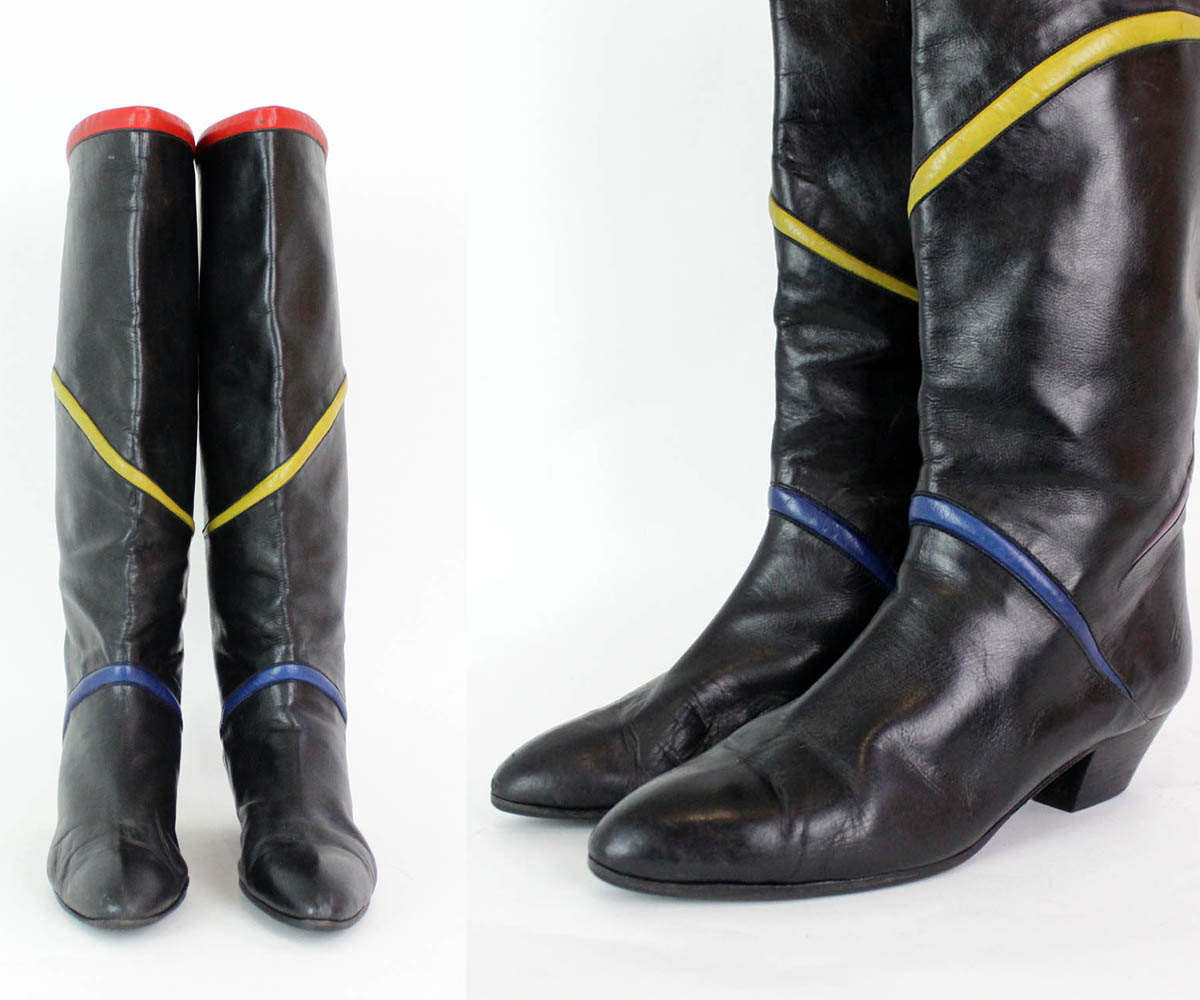 80s Knee High Boots