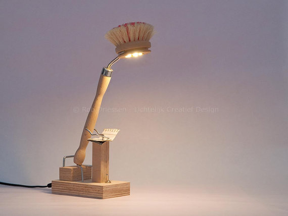 HE - Is Reading. Funny Wood Led Lamp