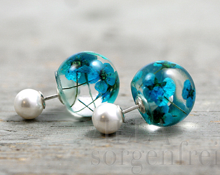 Double Sided Turquoise Stud Earrings