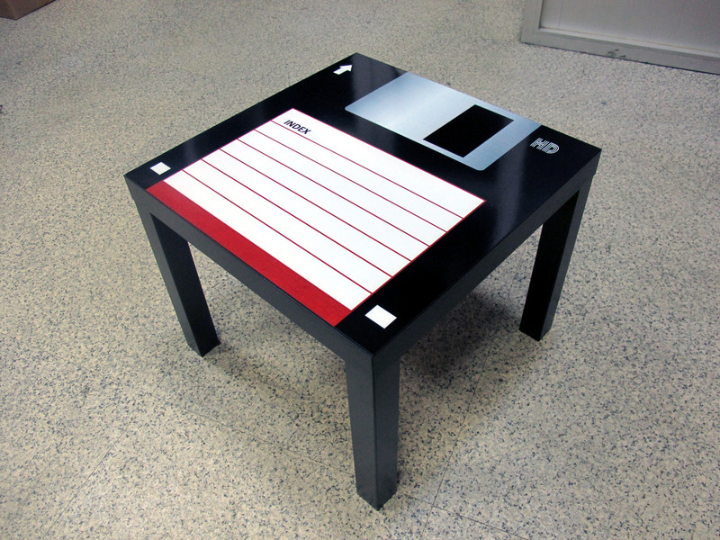 Black Floppy Disk Coffee Table